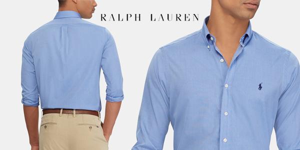 Camisa de hombre Polo Ralph Lauren regular lisa barata en El Corte Inglés