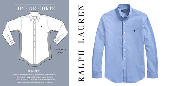 Camisa de hombre Polo Ralph Lauren regular lisa chollazo en El Corte Inglés