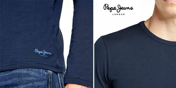 Camiseta de manga larga Pepe Jeans Original Basic L/S para hombre chollo en Amazon