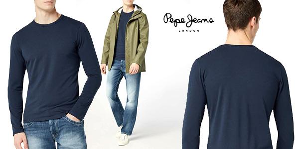Camiseta de manga larga Pepe Jeans Original Basic L/S para hombre barata en Amazon