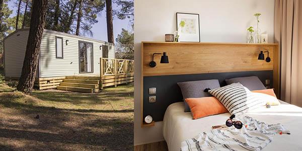 Camping Sousta alojamiento barato cerca de Puente de Gard