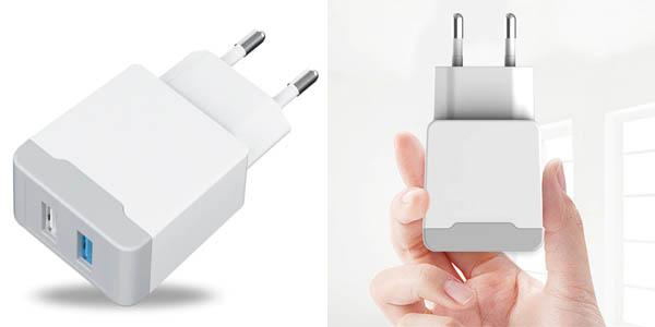 Cargador de pared Phomax con 2 puertos USB