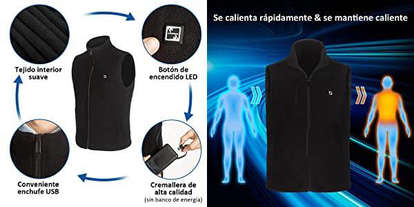Chaleco térmico LIFEBEE con carga USB en Amazon