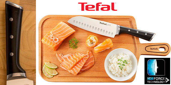 Chollo Cuchillo Santoku Tefal Ingenio Ice de 18 cm