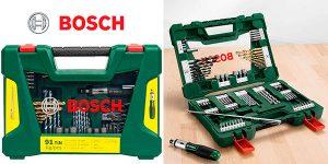 Chollo Maletín Bosch V-Line Titanio de 91 unidades para taladrar y atornillar