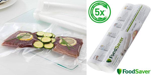 Chollo Pack de 2 rollos FoodSaver de 5,5 m para envasar al vacío