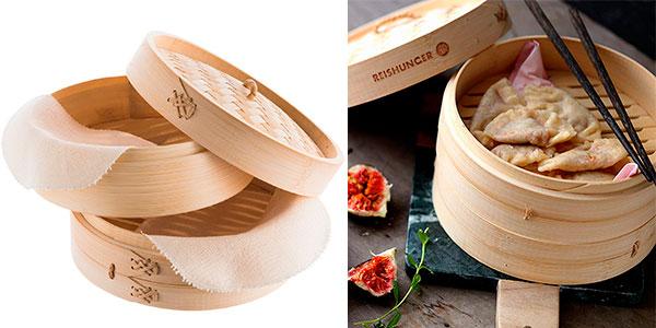 Chollo Vaporera de bambú Reishunger para 4 personas
