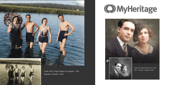 Colorear fotos antiguas gratis con MyHeritage In Color