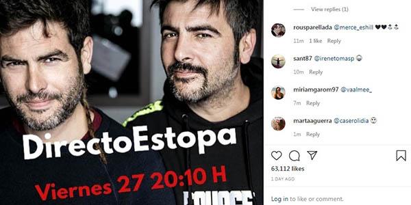 concierto gratis en streaming en Instagram de Estopa