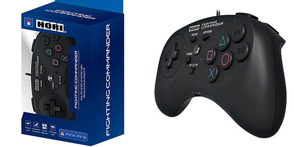 Mando Hori Fighting Commander para PS4, PS3 o PC en Amazon