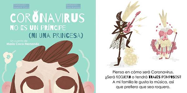 Coronavirus no es un príncipe, cuento de María Coco Hernando