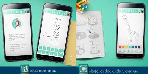 Aplicación Cuadernos Rubio de repaso para niños gratis