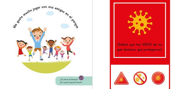 cuento gratis para explicar a los niños el Coronavirus Rosa contra el virus
