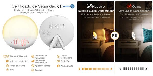 Despertador Mpow Wake Up Light chollo en Amazon