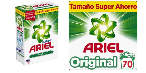 Detergente en polvo 70 lavados Ariel Original de 4.550 kg barato en Amazon