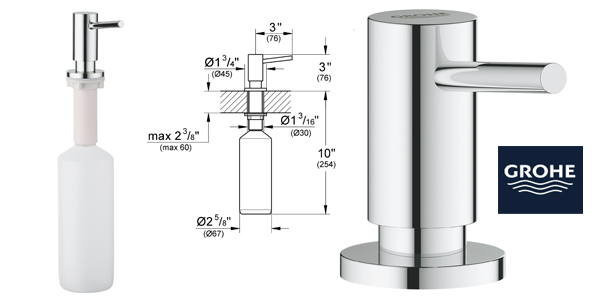 Dispensador de jabón líquido Grohe Cosmopolitan (Ref. 40535000) de 0,4L barato en Amazon