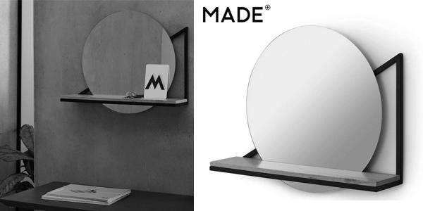 Espejo de pared con estante Huldra barato en Made
