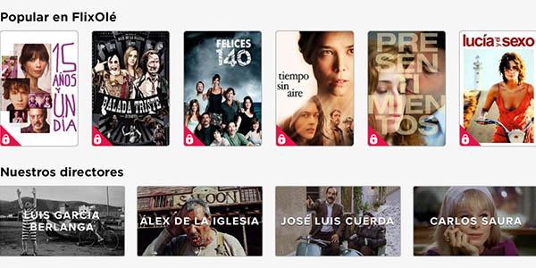 FlixOlé películas de cine español registro gratis