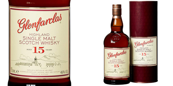 Whisky Single Malt Glenfarclas 15 Years de 700 ml barato en Amazon