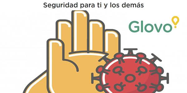 Glovo medidas de seguridad ante el coronavirus en España