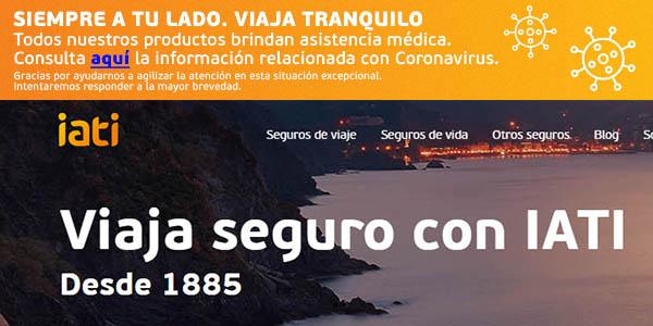 Iati seguros de viaje por coronavirus