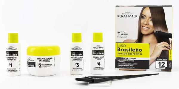 Kit Alisado Brasileño Be Natural Keratimask barato en Amazon