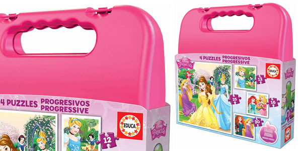 Maleta con Puzles progresivos de Princesas Disney Educa Borrás barato en Amazon