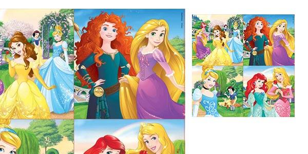 Maleta con Puzles progresivos de Princesas Disney Educa Borrás chollo en Amazon