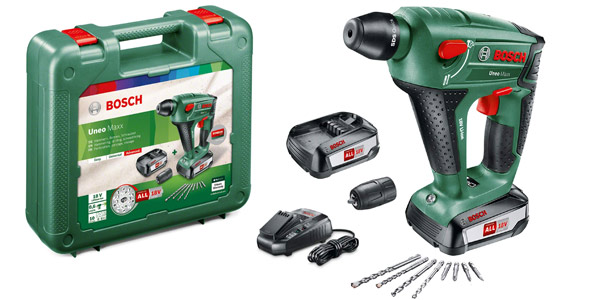 Martillo perforador Bosch UneoMaxx con 2 baterías de 18V + Maletín barato en Amazon