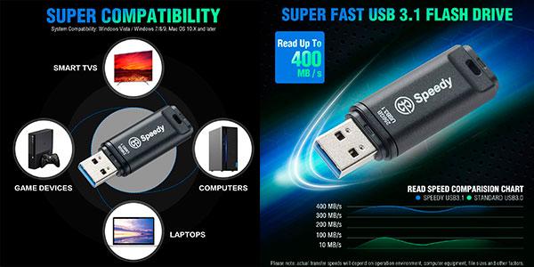 Memoria USB 3.1 AXE Speedy de 256 GB barata