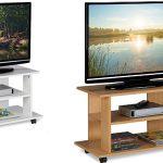 Mueble TV Relaxdays con 2 estantes y ruedas barata en Amazon