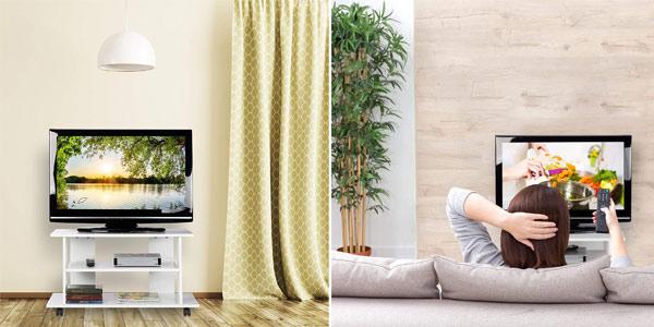 Mueble TV Relaxdays con 2 estantes y ruedas chollo en Amazon