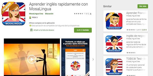 Mosalingua aplicaciones premium gratis