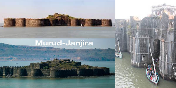 Murud-Janjira fuerte marítimo en la India