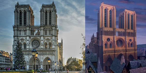 Notre Dame catedral película del Jorobado de Disney