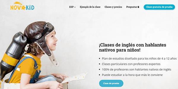 Novakid clase inglés online gratis niños