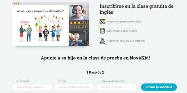 Novakid clase inglés online gratis