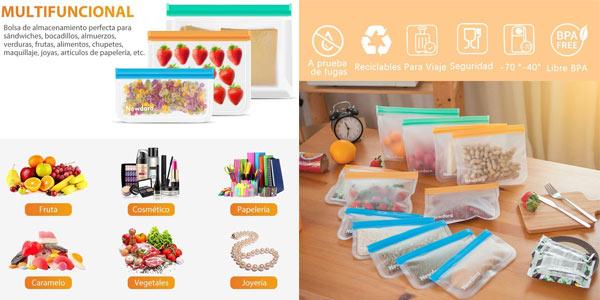 Pack x12 Bolsas de Silicona Reutilizables Newdora chollo en Amazon