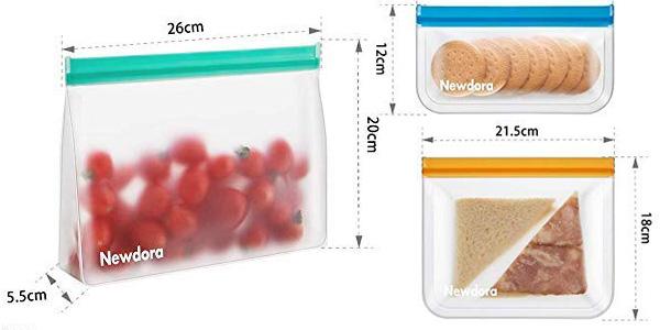 Pack x12 Bolsas de Silicona Reutilizables Newdora chollazo en Amazon