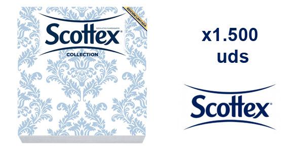 Pack x1.500 servilletas decorativas Scottex Collection Edición Limitada chollo en Amazon