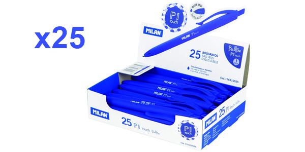 Pack x25 Bolígrafos Milan punta redonda 1 mm barato en Amazon