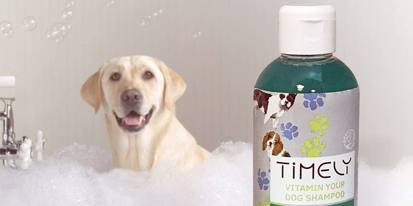 Pack x4 Champú para perros Timely Vitamin Your Dog de 250 ml/ud chollo en Amazon