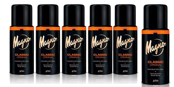 Pack x6 Desodorante Magno Classic para hombre de 150 ml/ud barato en Amazon