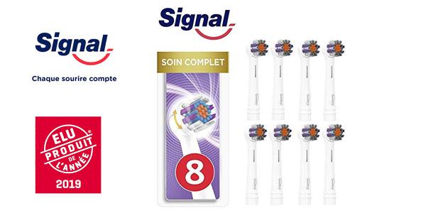 Pack x8 Cabezales eléctricos cuidado completo Signal Integral compatibles con Oral-B barato en Amazon