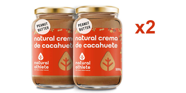 Pack x2 Crema de cacahuete natural Athlete 100% Sin azúcar barato en Amazon