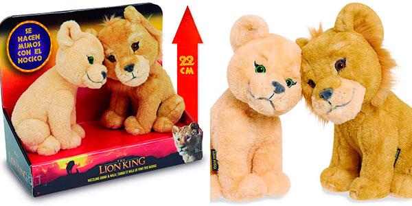 Pack de peluches Simba y Nala de El Rey León barato