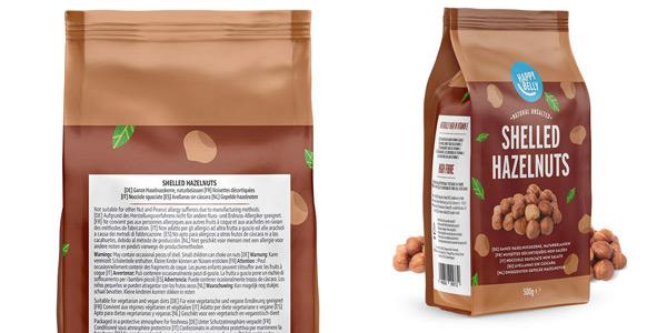 Pack x4 paquetes de avellanas sin cáscara Happy Belly de 500 gr/ud chollo en Amazon