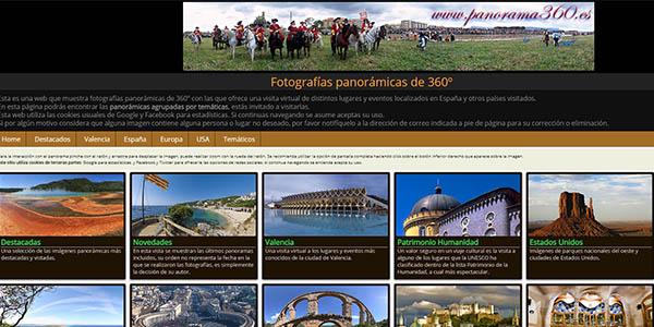 Panorama360 con fotos del mundo panorámicas