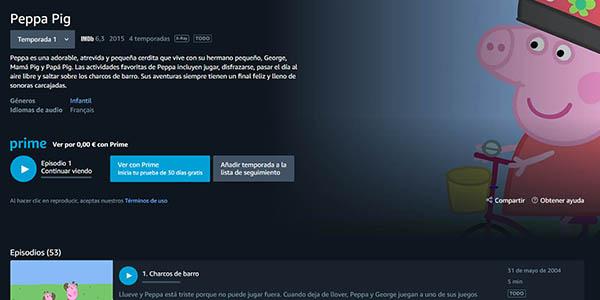 películas y series infantiles gratis en Amazon Prime Video