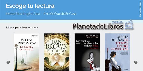 Libros Gratis Del Grupo Planeta Para Leer En Casa La Sombra Del Viento El Código Da Vinci Los Hombres Que No Amaban A Las Mujeres